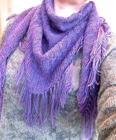 Rivulet shawl